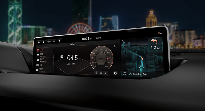 Genesis's Copper Design theme of Infotainment System